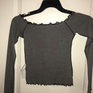 Hollister striped off the shoulder top